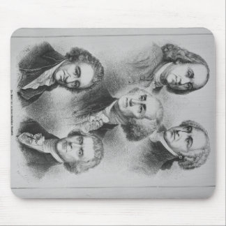 Founding Fathers black and white Portraits Mouse Pad