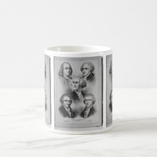 Founding Fathers black and white Portraits Coffee Mugs