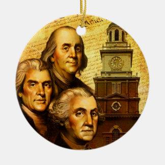 Founding Fathers Ceramic Ornament