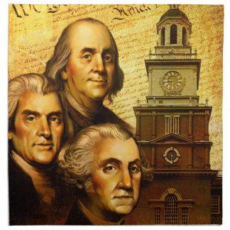 Founding Fathers Cloth Napkins