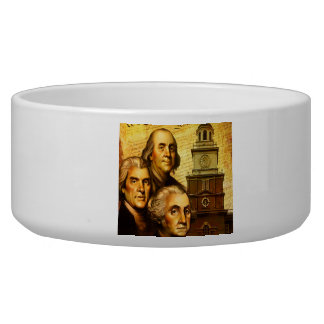 Founding Fathers Dog Food Bowls