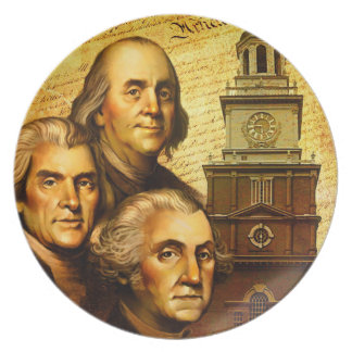 Founding Fathers Party Plates