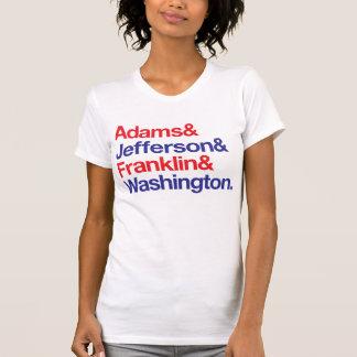 founding fathers -redblue t-shirts