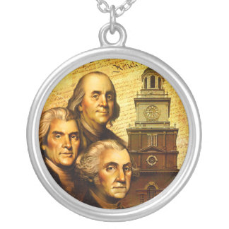 Founding Fathers Round Pendant Necklace