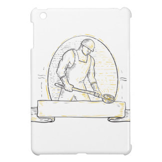 Foundry Worker Steel Ladle Miono Line iPad Mini Cover