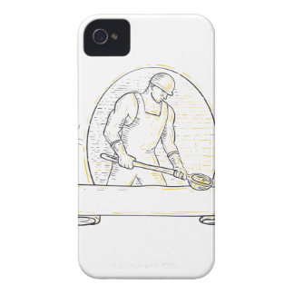 Foundry Worker Steel Ladle Miono Line iPhone 4 Case-Mate Case