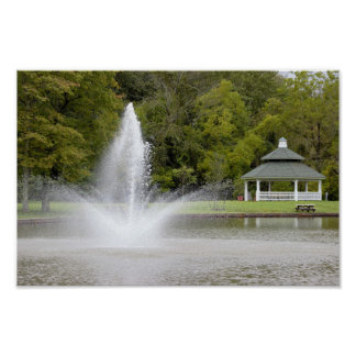 Fountain and Gazebo Poster