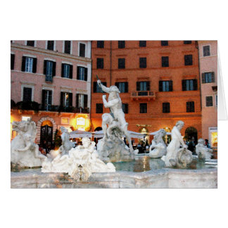 Fountain at Navona Square Card