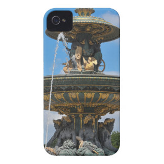 Fountain at Place de Concorde in Paris, France iPhone 4 Case-Mate Cases