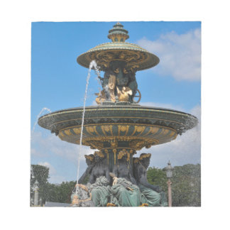 Fountain at Place de Concorde in Paris, France Notepads