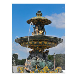 Fountain at Place de Concorde in Paris, France Postcard
