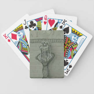fountain bicycle playing cards