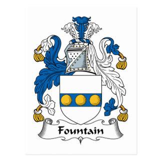 Fountain Family Crest Postcard