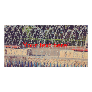 Fountain jet photo cards