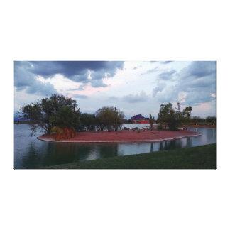 Fountain Lake Island Canvas Print