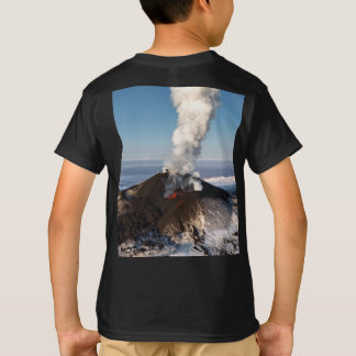 Fountain of hot lava erupts from crater volcano T-Shirt