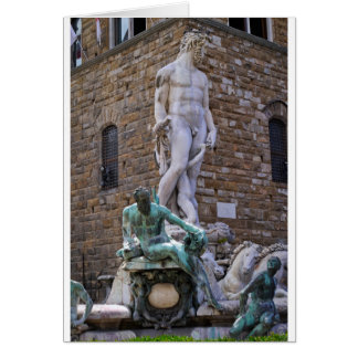 Fountain of Neptune Florence Italy Card