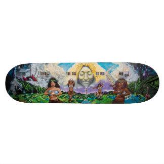 Fountain of Pele - Street Art Skateboard Deck