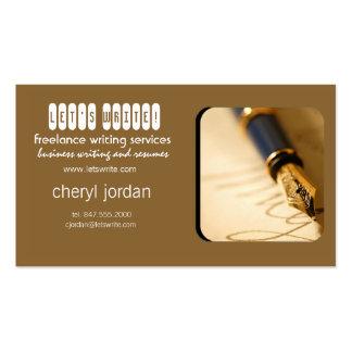 fountain pen2 freelance writer business card