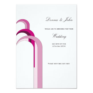 Fountain Pink - Save the Date 11 Cm X 16 Cm Invitation Card
