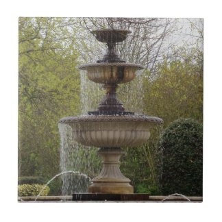 "Fountain Small (4.25"" x 4.25"") Ceramic Photo Tile"