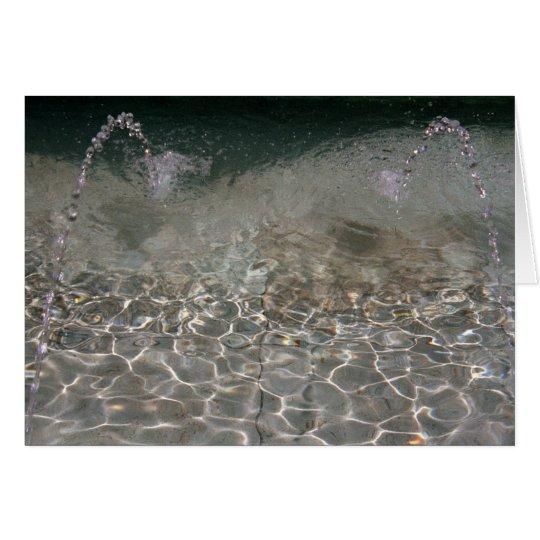 Fountain Spray Card