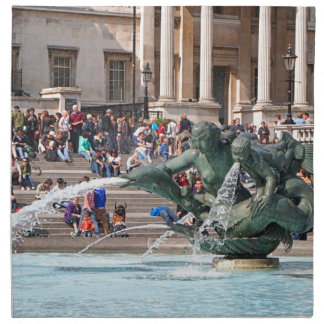 Fountain, Trafalgar Square, London, England 2 Napkin
