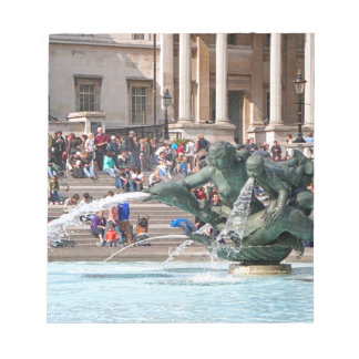 Fountain, Trafalgar Square, London, England 2 Notepad