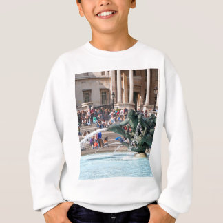 Fountain, Trafalgar Square, London, England 2 Sweatshirt
