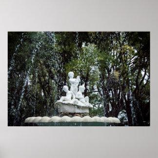 Fountaine in Varna, Bulgaria Poster