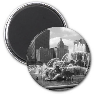 Fountains 6 Cm Round Magnet