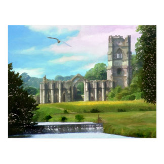 Fountains Abbey Postcard