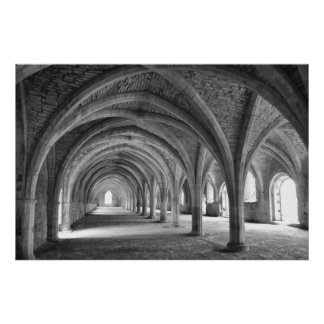 Fountain's Abbey Poster