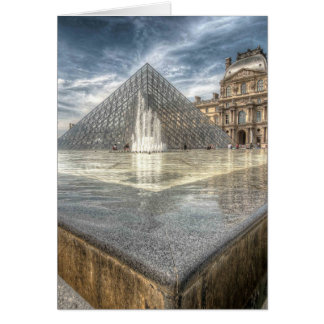 Fountains at The Louvre, Paris France Card