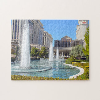 Fountains in Las Vegas Nevada. Jigsaw Puzzle