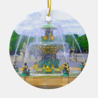 Fountains of Paris, I Round Ceramic Decoration