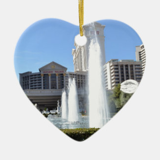 Fountains on the Las Vegas Strip Ceramic Ornament