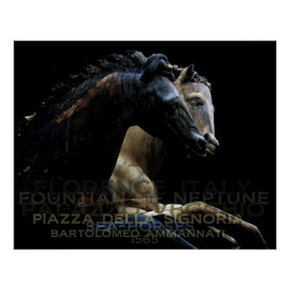 Fountian of Neptune-Sea Horses Poster
