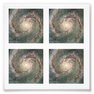 Four 2-inch Square Whirlpool Galaxy  Photo Photographic Print