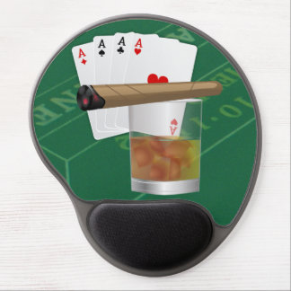Four Aces, A Drink and A Cigar Gel Mouse Pad