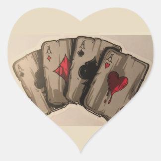 Four Aces Heart Sticker