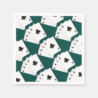 Four Aces Playing Cards Pattern Napkins Disposable Serviette