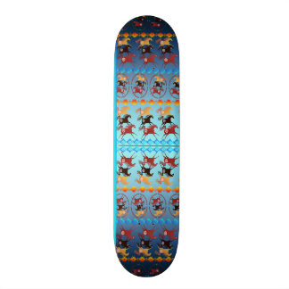 Four Ancient Horses 20.6 Cm Skateboard Deck