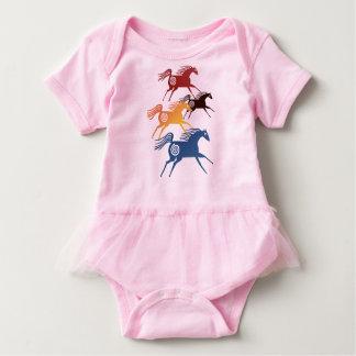 Four Ancient Horses Baby Bodysuit