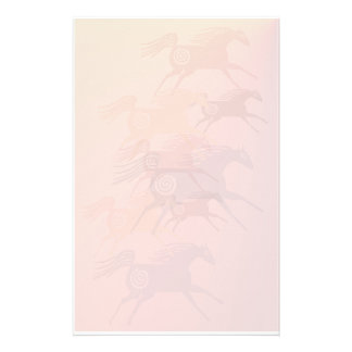 Four Ancient Horses stationary Stationery