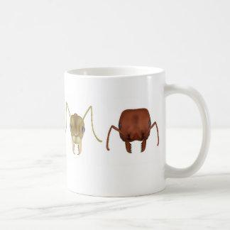 Four ants on a mug