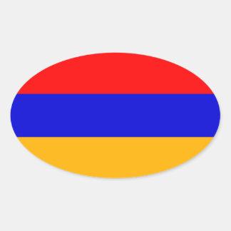 FOUR Armenia National Flag Oval Sticker
