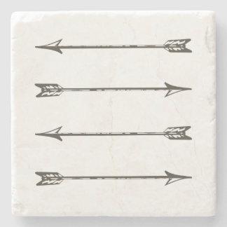 Four Arrows Stone Coaster