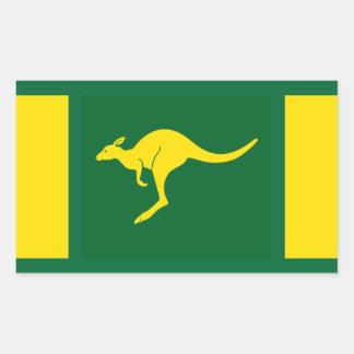 FOUR Aussie Colors Kangaroo Rectangular Sticker