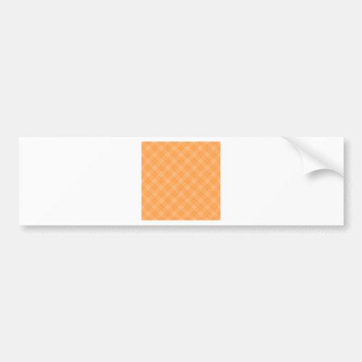 Four Bands Small Diamond - Orange2 Bumper Sticker